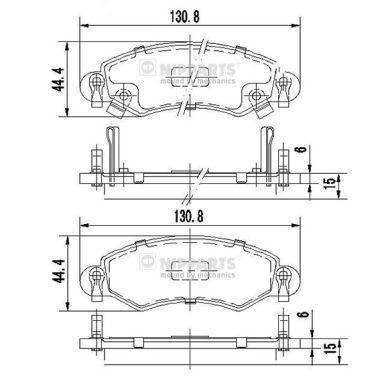 Suzuki Ignis elsõ fékbetét szett Nipparts (J3608025)