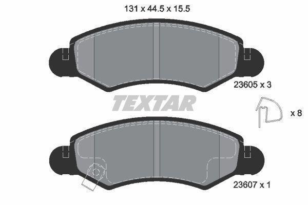 Suzuki Ignis elsõ fékbetét Textar (T2360501)