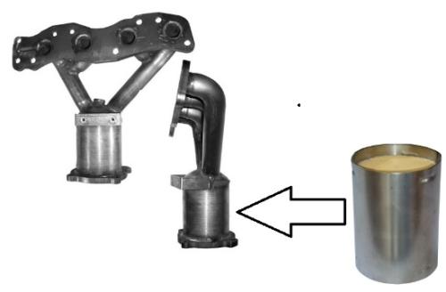 Suzuki Ignis katalizátor csonk betét 1.3-1.5 benzin Euro III 111x130 (6405)