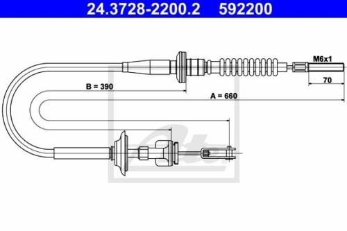 Suzuki Ignis kuplung bowden 1.3 benzin 23710-86G00 ATE Germany (24.37282200.2 )