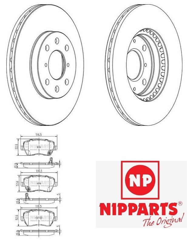 Suzuki Splash féktárcsa + fékbetét szett Nipparts féktárcsa