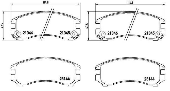 Suzuki Swift elsõ fékbetét 1.6 sedan 55200-62810
